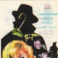Foglietti di film di film antichi di cinema: PN - PROGRAMA DE CINE - EL BRUJO - JOACHIM FUSCHBERGER - CINE CERVANTES (VILLENA) - 1966.. Lote 242299305