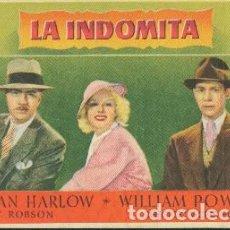 Foglietti di film di film antichi di cinema: LA INDÓMITA (CON PUBLICIDAD). Lote 242395650
