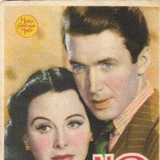 Flyers Publicitaires de films Anciens: PROGRAMA DE CINE - NO PUEDO VIVIR SIN TI - JAMES STEWART, HEDY LAMAR - MGM - 1941 - SIN PUBLICIDAD.. Lote 242469315
