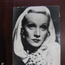 Foglietti di film di film antichi di cinema: MARLENE DIETRICH - POSTAL ORIGINAL B/N - GERMAN ACTRESS. Lote 242474930