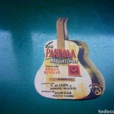 Cine: PROGRAMA DE CINE TROQUELADO. LA PARRALA. CINE ROSALÍA DE CASTRO. LA CORUÑA. Lote 242818065