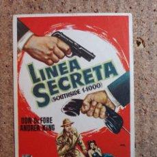 Cine: FOLLETO DE MANO DE LA PELICULA LINEA SECRET. Lote 242925470