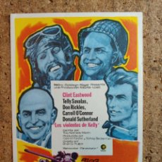 Flyers Publicitaires de films Anciens: FOLLETO DE MANO DE LA PELICULA LOS VIOLENTOS DE KELLY. Lote 242925625