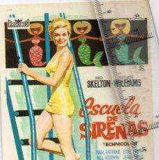 """Cine: 1966 PROCINES - METRO GOLDWIN MAYER ESTHER WILLIAMS RED SKELTON """"ESCUELA DE SIRENAS"""" XAVIER CUGAT. Lote 243010210"""
