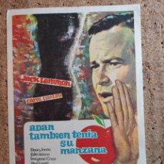 Flyers Publicitaires de films Anciens: FOLLETO DE MANO DE LA PELICULA ADAN TAMBIEN TENIA SU MANZANA. Lote 243040235