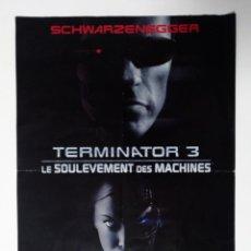 Cine: FOLLETO TERMINATOR 3 LA REBELIÓN DE LAS MÁQUINAS 2003 VERSIÓN FRANCESA SCHWARZENEGGER FRANCE TRIUMPH. Lote 243251570