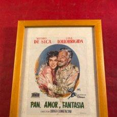 Cine: PAN, AMOR Y FANTASÍA (FOLLETO MANO ENMARCADO). Lote 243373830