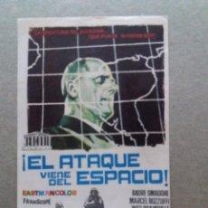 Cine: EL ATAQUE VIENE DEL ESPACIO. Lote 243644740