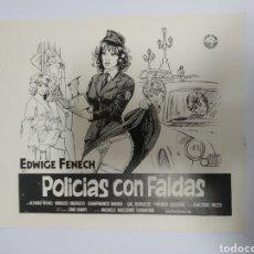 Cine: PROGRAMA DE CINE DE LA PELÍCULA POLICÍA CON FALDAS. Lote 243666480