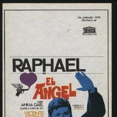 Cine: P-0230- EL ANGEL (RAPHAEL - ANNA GAEL - ROBERTO CAMARDIEL - JOSÉ RAMÓN GINER - JOSÉ SACRISTÁN). Lote 243850000