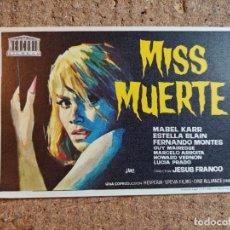 Cine: FOLLETO DE MANO DE LA PELICULA MISS MUERTE. Lote 243858775