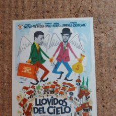 Cine: FOLLETO DE MANO DE LA PELICULA LLOVIDOS DEL CIELO. Lote 243861965