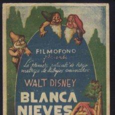 Cine: P-1620- BLANCA NIEVES Y LOS 7 ENANITOS (SNOW WHITE AND THE SEVEN DWARFS). Lote 243862400