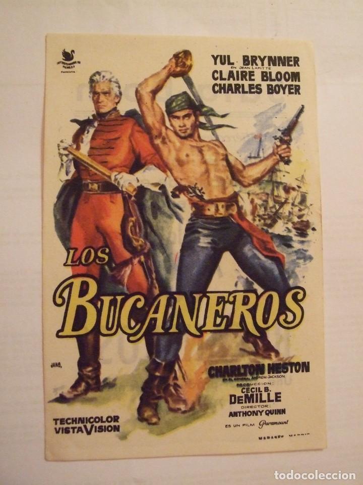 LOS BUCANEROS - SIMPLE CON PUBLICIDAD SALA BORN PALMA DE MALLORCA - PERFECTO (Cine - Folletos de Mano - Acción)