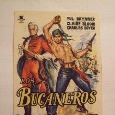 Cine: LOS BUCANEROS - SIMPLE CON PUBLICIDAD SALA BORN PALMA DE MALLORCA - PERFECTO. Lote 243914330