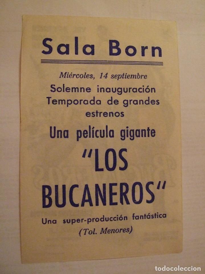Cine: LOS BUCANEROS - SIMPLE CON PUBLICIDAD SALA BORN PALMA DE MALLORCA - PERFECTO - Foto 2 - 243914330