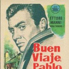 Cine: BUEN VIAJE, PABLO (CON PUBLICIDAD). Lote 243917735