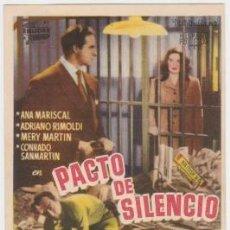 Cine: PACTO DE SILENCIO (CON PUBLICIDAD). Lote 243917930