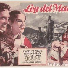 Cine: LEY DEL MAR. Lote 243919900