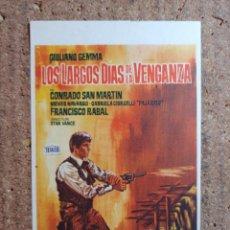 Cine: FOLLETO DE MANO DE LA PELICULA LOS LARGOS DIAS DE LA VENGANZA. Lote 243964935