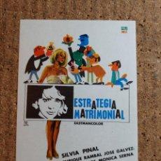 Cine: FOLLETO DE MANO DE LA PELICULA ESTRATEGIA MATRIMONIAL. Lote 243972745
