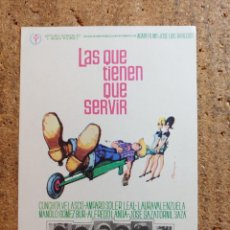 Cine: FOLLETO DE MANO DE LA PELICULA LAS QUE TIENEN QUE SERVIR. Lote 244388630
