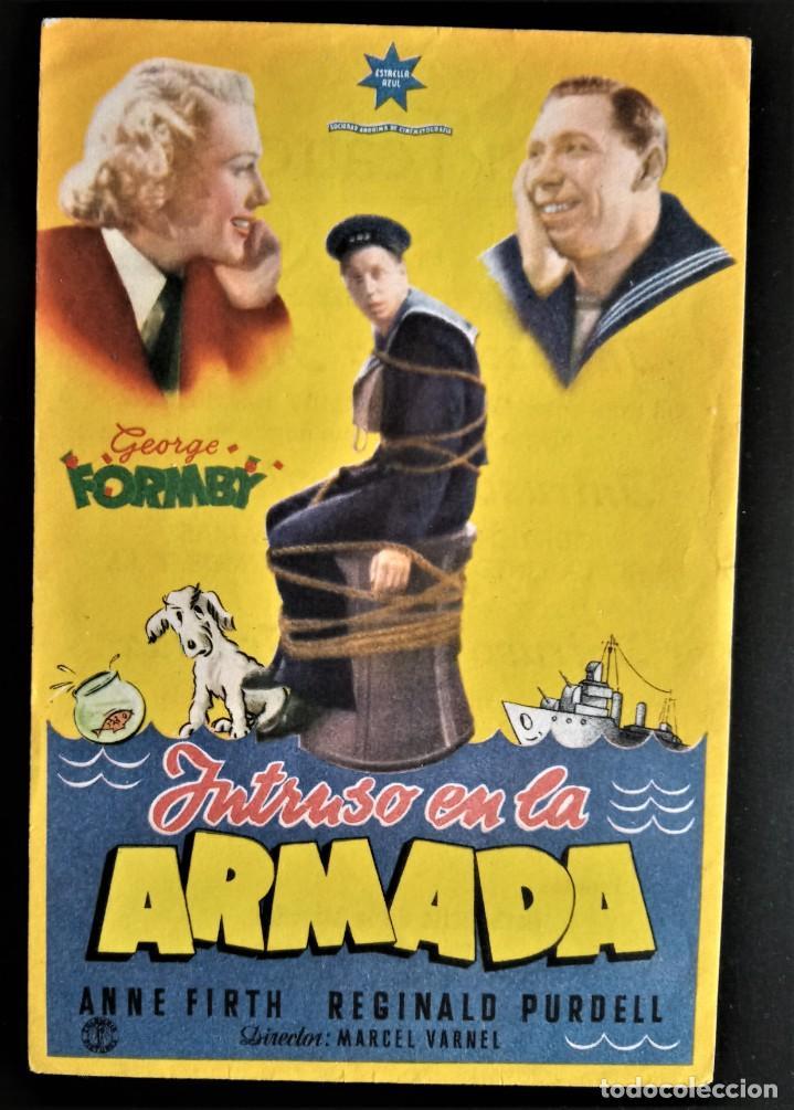 FOLLETO CINE INTRUSO EN LA ARMADA GEORGE FORMBY GRAN TEATRO BURGOS (Cine - Folletos de Mano - Acción)
