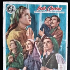 Cine: FOLLETO CINE LA SEÑORA DE FATIMA INES ORSINI GRAN TEATRO BARCELONA DOBLEZ. Lote 244397050