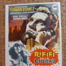 Cine: FOLLETO DE MANO DE LA PELICULA RIFIFI EN LA CIUDAD. Lote 244397920