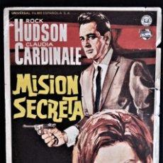 Cine: FOLLETO CINE MISION SECRETA ROCK HUDSDON CLAUDIA CARDINALE JEREZ DDE LA FRONTERA. Lote 244403695