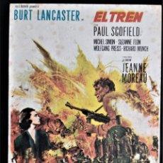 Cine: FOLLETO CINE EL TREN PAUL SCOFIELD ALATRAVAS BURGOS. Lote 244404790