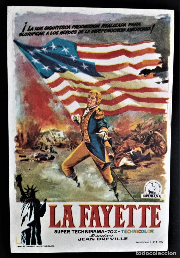 FOLLETO CINE LA FAYETTE JEAN DREVILLE VALENCIA (Cine - Folletos de Mano - Acción)