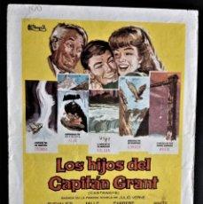 Cine: FOLLETO CINE LOS HIJOS DEL CAPITAN GRANT MAURICE CHEVALIER MADRID CORDON BURGOS. Lote 244407375