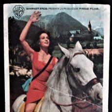 Cine: FOLLETO CINE SIEGA VERDE JEANNE VALERIE CORDON BURGOS. Lote 244409760