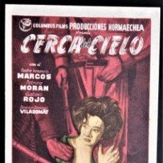 Cine: FOLLETO CINE CERCA DEL CIELO PATRICIO MORAN NUEVO BADALONA. Lote 244411330