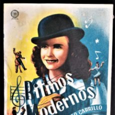 Cine: FOLLETO CINE RITMOS MODERNOS ANDREWS CALATRAVAS BURGOS. Lote 244412510