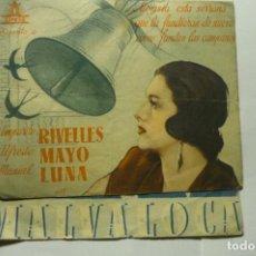 Cine: PROGRAMA DOBLE MALVALOCA.-AMPARO RIVELLES- SELLO CINE GOYA-ALCALA CHIVERT. Lote 244449620