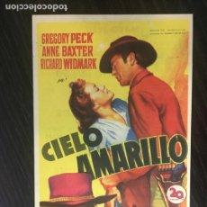 Cine: CIELO AMARILLO - PROGRAMA DE CINE MALGRAT C/P. Lote 244602090
