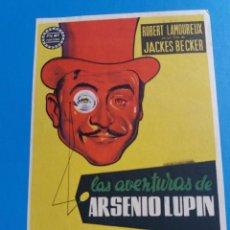 Cine: LAS AVENTURAS DE ARSÉNIO LUPIN. Lote 244675540
