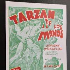 Cine: TARZAN DE LOS MONOS, JOHNNY WEISMULLER, IMPRESO EN LOS AÑOS 80. Lote 244703270
