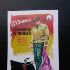 Cine: APRENDIENDOA MORIR, EL CORDOBÉS, IMPRESO EN LOS AÑOS 80. Lote 244705280