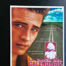 Cine: TARJETA MERCURI, LA CHICA DEL CALENDARIO, AÑOS 80. Lote 244706200