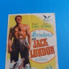 Cine: AVENTURAS DE JACK LONDON CON PUBLICIDAD COLISEO ALBIA. Lote 244708550