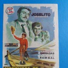 Cine: AVENTURAS DE JOSELITO EN AMERICA CON PUBLICIDAD CERVANTES GRANADA. Lote 244709685