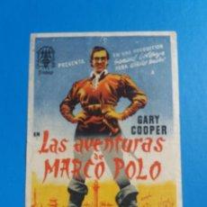 Cine: LAS AVENTURAS DE MARCO POLO CON PUBLICIDAD ALIATAR CINEMA GRANADA. Lote 244711480