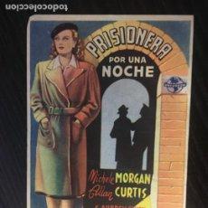 Cine: PRISIONERA POR UNA NOCHE - PROGRAMA DE CINE TEIÀ C/P. Lote 244795245