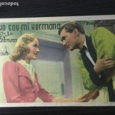 Cine: YO SOY MI HERMANA - PROGRAMA DE CINE TEIÀ C/P 1944. Lote 244795880