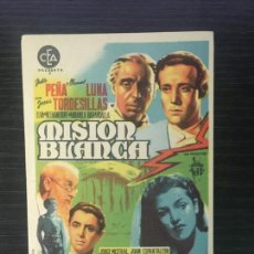 Flyers Publicitaires de films Anciens: MISIÓN BLANCA - PROGRAMA DE CINE SANT JOAN DE LES ABADESSES C/P. Lote 244796865