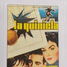 Cine: FOLLETO DE MANO: LA QUINIELA. ANA MARISCAL, MANUEL MONROY, JOAQUÍN ROA. SINOPSIS DORSO. INTERFILMS. Lote 244855340