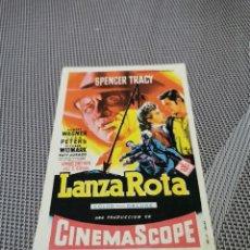 Flyers Publicitaires de films Anciens: PROGRAMA DE MANO ORIG - LANZA ROTA - CON CINE DE MÁLAGA AL DORSO. Lote 244859385